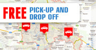 Free drop off or pick up at any place in Kharkov